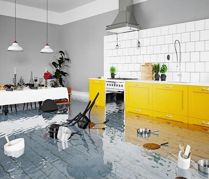 flooding in kitchen