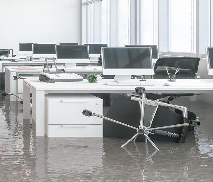 water damage in commercial property
