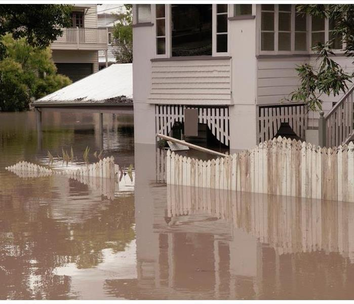 flooded home exterior